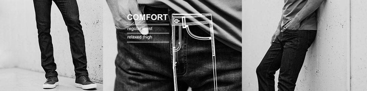 demin, jeans, comfort cut,
