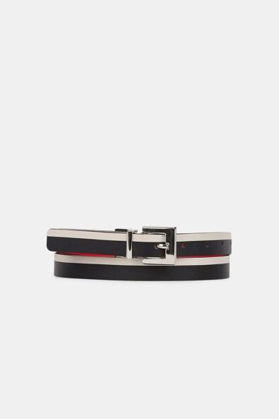 Reversible 2-tone belt