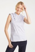 Sleeveless top with frill