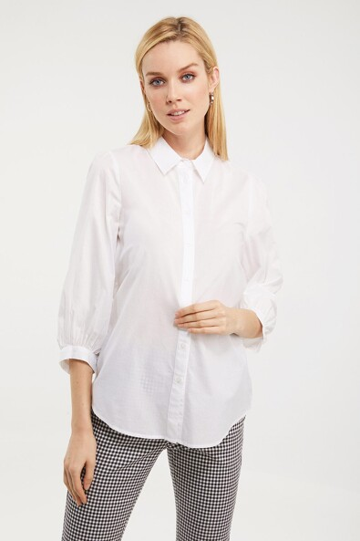 Puffy sleeve shirt