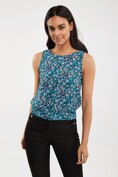 Floral open back top with knot