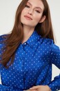 Letter print regular shirt - Multi Blue
