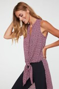 Floral print sleeveless tunic