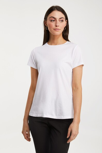 Basic crew neck pima cotton t-shirt