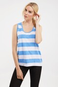 Striped U neck camisole