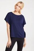 Bat sleeve striped t-shirt