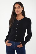Ribbed top with puffy sleeve