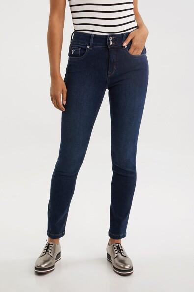 Push up high waist jean
