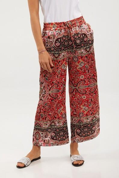 Casual scarf printed pant