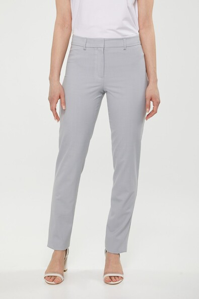 Wool blend straight Modern Fit pant
