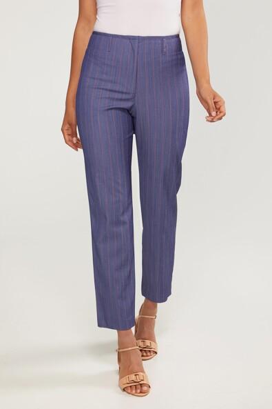 Wool blend High waist striped pant