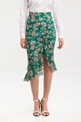 Floral skirt with gathering & frill