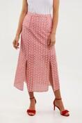 Midi cotton eyelet skirt