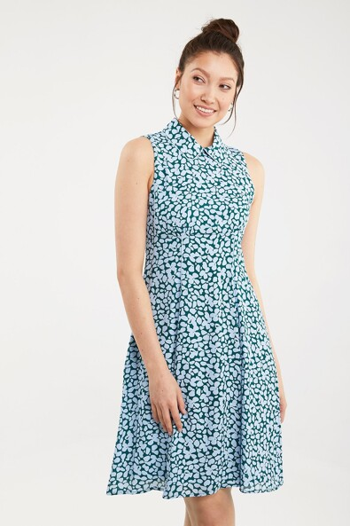 Empire waist printed dress