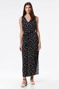 Dot print dress with sash