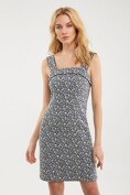 Jacquard dress with contrast cord