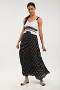 Sun pleated polka dot dress