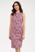 Printed crew neck sleeveless dress