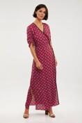 Maxi printed wrap dress