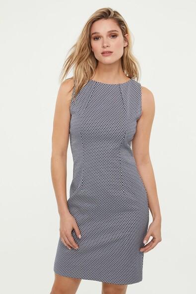 Inverted dart jacquard dress