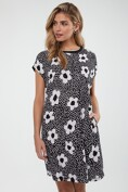 Printed loose dress with jersey back