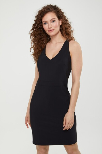 Racer back fitted dress