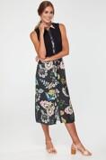 Floral print & jersey shirt dress