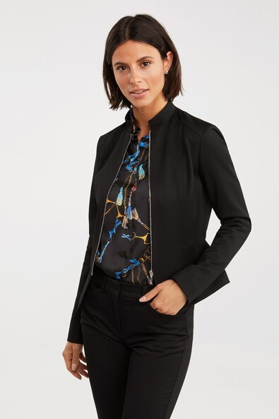 Fitted blazer with peplum