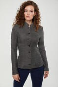Jacquard effect stretch jacket