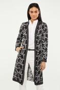 Long jacquard jacket with ribbon detail