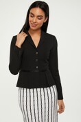 Blazer with pleats at waist