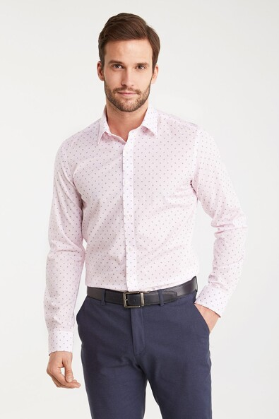 Extra-Fitted non-iron shirt