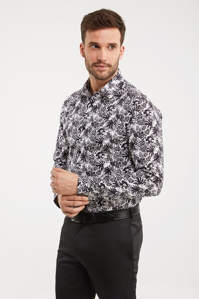 Printed Extra-Fitted Non-iron shirt