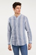 Striped linen blend shirt