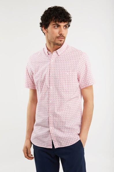 Printed vichy shirt