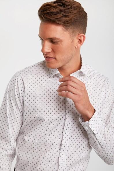 Comfort fit printed shirt