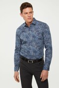 Non-Iron Extra-fitted paisley shirt