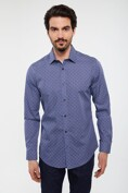 Extra-fitted non-iron micro pattern shirt