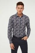 Floral print jersey shirt