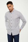 Geometric print slub shirt