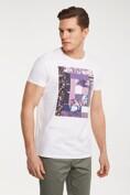 Purple graphic print T-shirt