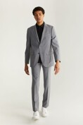 Fitted solid blazer