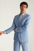 Extra-fitted solid colour blazer